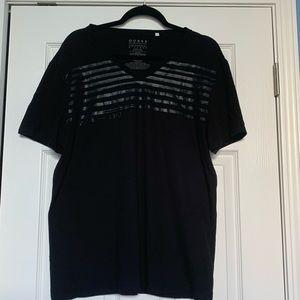 Striped black shirt